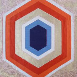 Vintage golden geometric obi