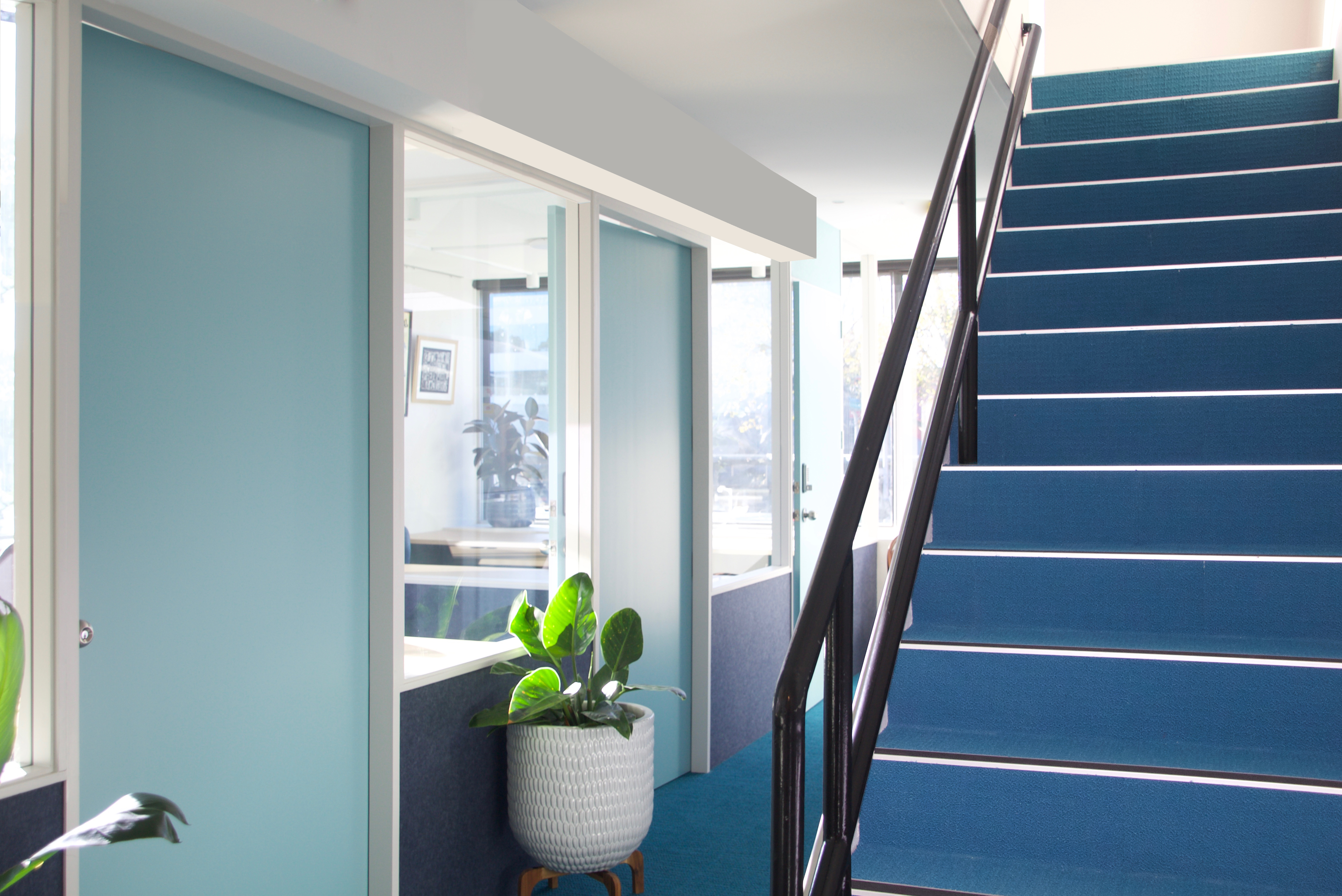 CP 1st floor offices stairs