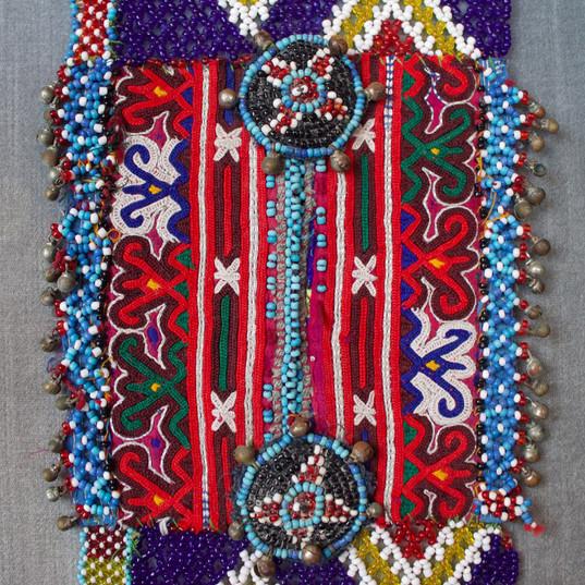 Afghan wedding pocket beaded top bottom