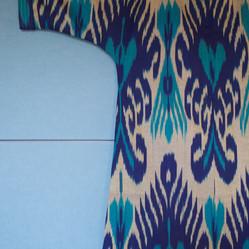 Silk ikat jacket detail