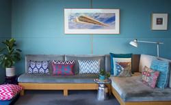 Velvet sofa cushion group 2