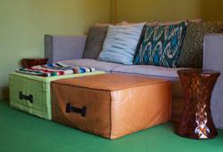 Linen sofa cushion group 1