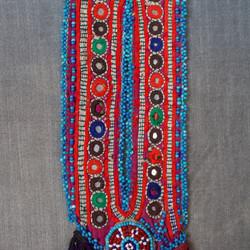 Afghan pocket beaded slim
