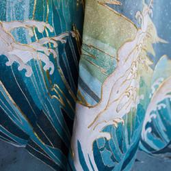 Wave kimono detail