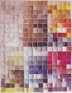 Natural pain colour samples