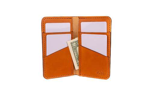"#13 The Vertical Wallet ""Chestnut"""