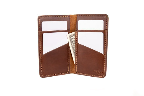 "#13 The Vertical Wallet ""Rich Brown"""