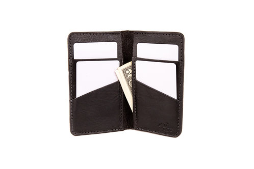 "#13 The Vertical Wallet ""Black"""