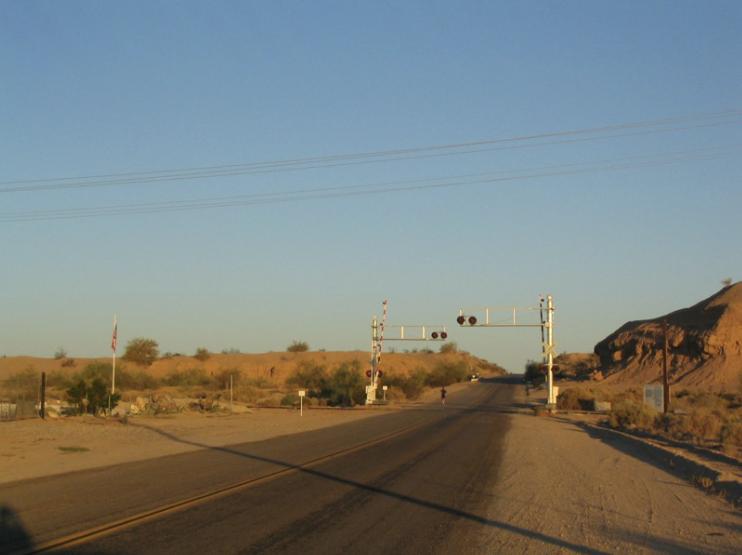Leaving Blythe toward property