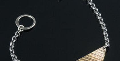 Brass Arc Toggle Bracelet