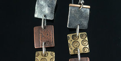 ColorPlay Tower Tile Stack Earrings