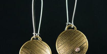 Brass Ray Drop Earrings