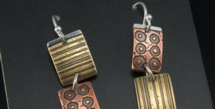 Afternoon Sun Tile Stack Earrings