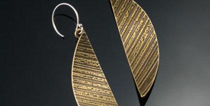 Brass Arc Earrings