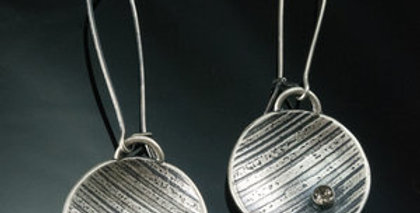Silver Ray Drop Earrings