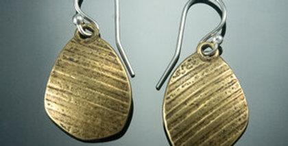 Brass Stone Dangle Earrings