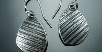 Silver Stone Dangle Earrings