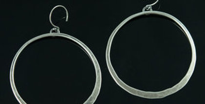 Large Silver Orbit Hoops