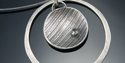 Silver Ray Orbit Necklace