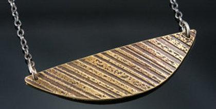 Brass Arc Bar Necklace