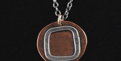 Copper & Silver Universe Necklace