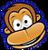 A brown smiling monkey.