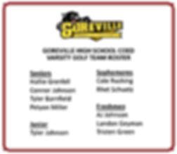 Goreville Coed Varsity Golf Team Roster.
