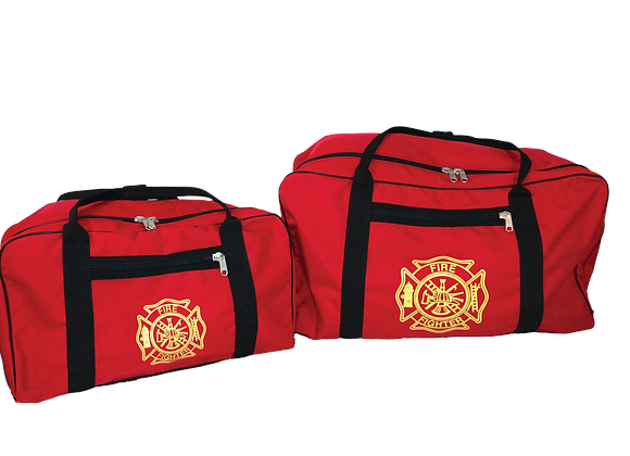 R&B Fabrications XXXL Red Gear Bag w/ Gold Maltese Cross