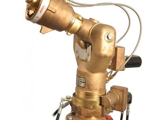 "Akron Brass  Style 3476 Gemini Hydraulic Monitor - Brass 4"" flange x 2.5"" NH"