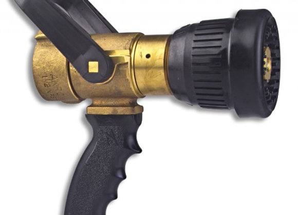 Akron Style 3019 1 1/2'' Brass Fog Nozzle with Pistol Grip