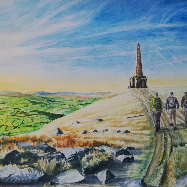 Stoodley Pike commission, watercolour