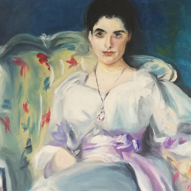 Study of 'Lady Agnew' by John Singer Sargent, oil painting on paper