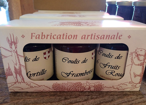 Assortiments coulis 110g X3