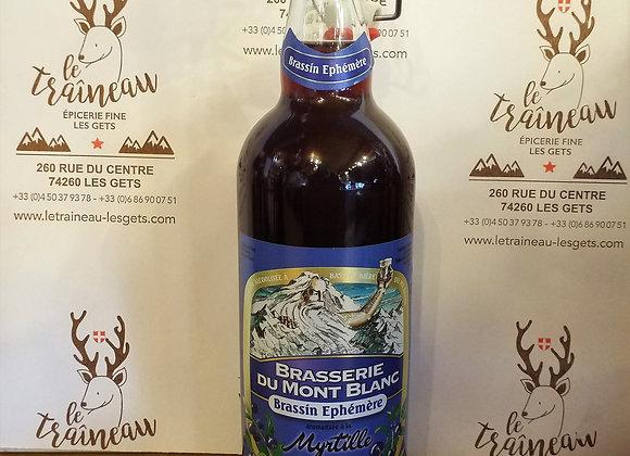 Bière du Mont-Blanc Brassin Ephemere myrtille 75cl