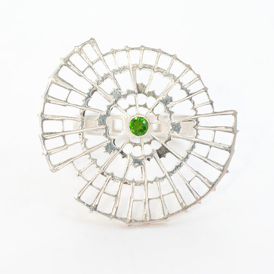 Orbital Ring with Chrome Diopside