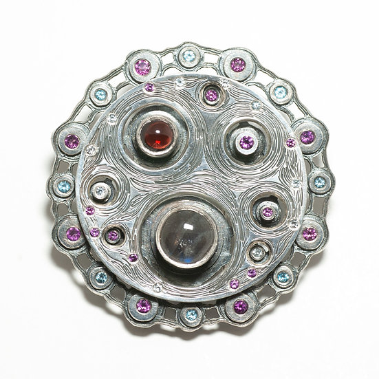 Large Layered brooch