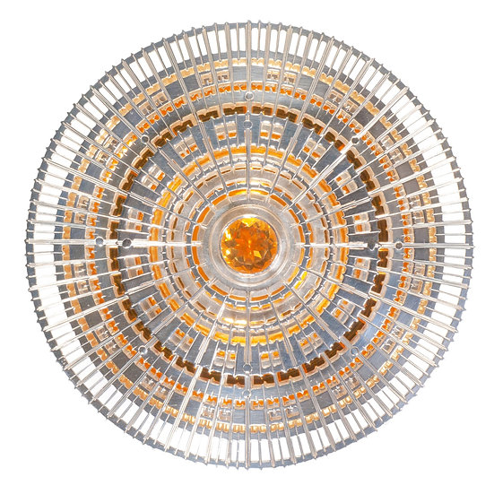 Citrine bowl, saw pierced and hand engraved gold plated silver tom asquith Jewellery