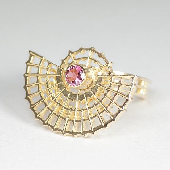 Orbital Ring with Pink Tourmaline