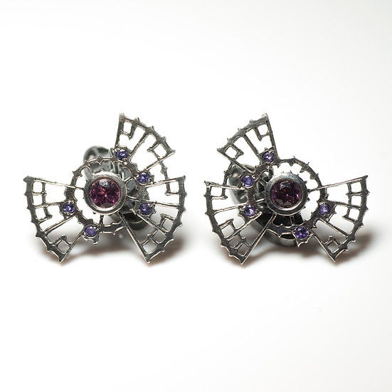 Garnet and Amethyst Cufflinks