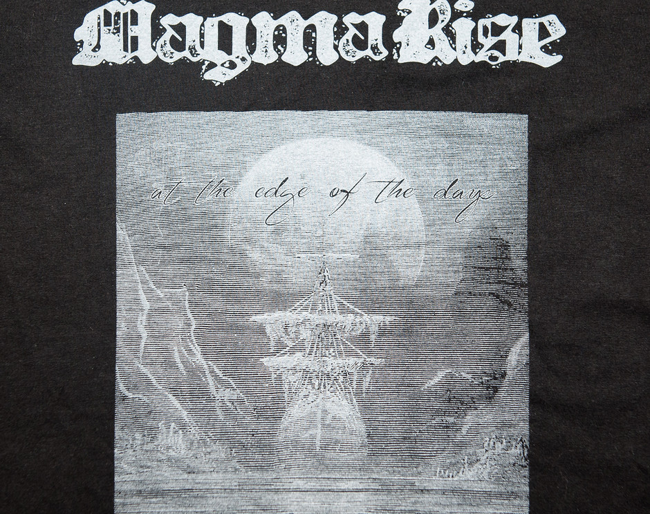At the edge of the days-t-shirt