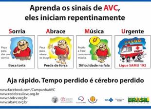 Atenção a estes sintomas, podem ser AVC.