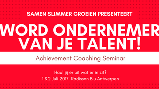 Word ondernemer van je talent!