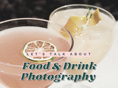 Tips for styling and shooting food & drink photography