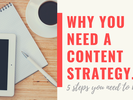 Why You Need a Content Strategy. 5 Steps You Need to Know