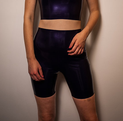 Latex Shorts - Latex High Waisted Biker Shorts