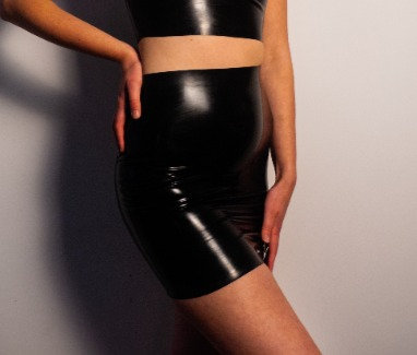 Latex Skirt - Latex High Waisted Mini Skirt