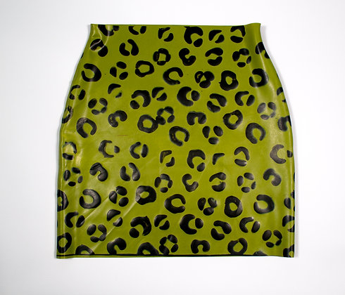 Latex Skirt -Latex High Waisted Mini Skirt - Style 2