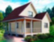 Каталог проектов и цены на деревянные каркасные дачные дома