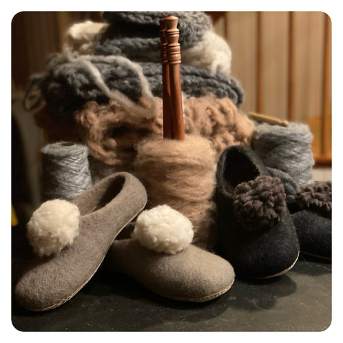 Mulxiply Felted Slippers
