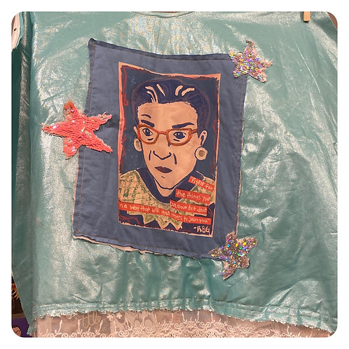 One of a Kind RBG Upcycled Capes